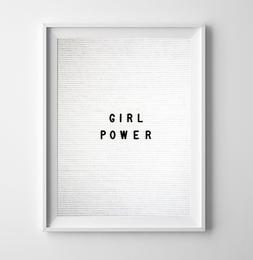 Letterboard Print Girl Power