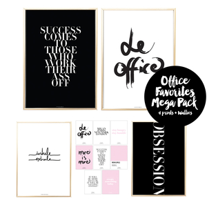 Office Favorites Mega Pack 4 Prints + 8 Wallies