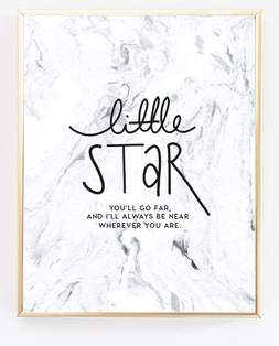 Little Star Marbled Paper