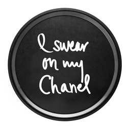 "Trendy Tray ""I Swear On My Chanel"" Black"