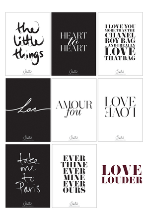 LOVE LOUDER WALLIES: 8 PRINTS IN ONE PACK