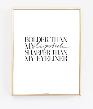 Bolder & Sharper