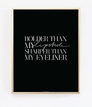 Bolder & Sharper Noir