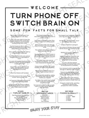 Phone Off Brain On