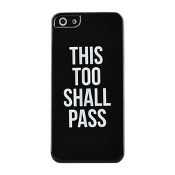 This Too Shall Pass Noir iPhone Case 5/5s