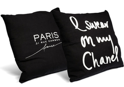 I Swear On My Chane Noir Pillow + Home Of Coco Noir Pillow
