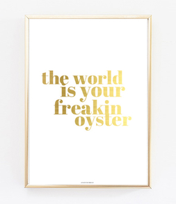 The World Is Your Freakin Oyster